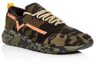 Diesel S-KBY Men's Camo Print Knit Lace Up Sneakers