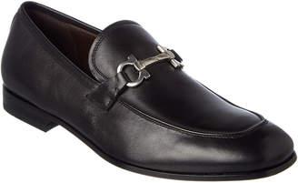 Salvatore Ferragamo Gancio Bit Leather Loafer