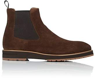 di Bianco Men's Suede Chelsea Boots