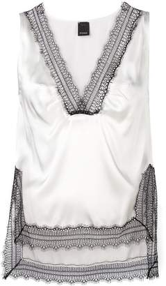Pinko lace detailed vest top