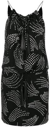 Saint Laurent metallic embroidered dress