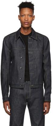Rick Owens Indigo Denim Worker Jacket