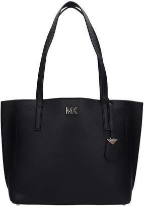 Michael Kors Bonded Tote Bag In Black Leather