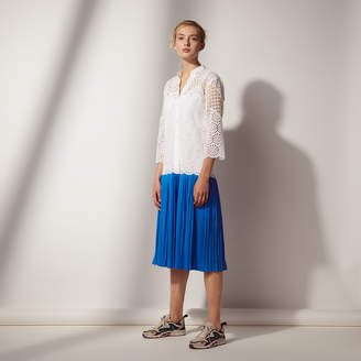 Sandro Two-tone dress with pleated skirt