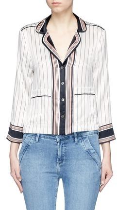 EquipmentEquipment x Kate Moss 'Lake' stripe print silk pyjama shirt