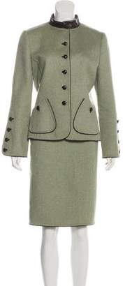 Oscar de la Renta Cashmere Knee-Length Skirt Suit