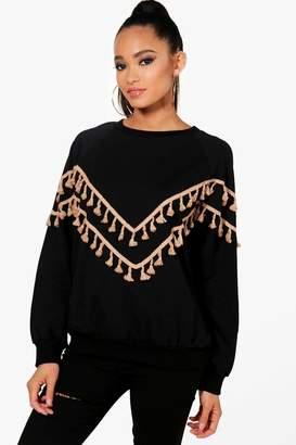 boohoo Tassel Detail Sweater
