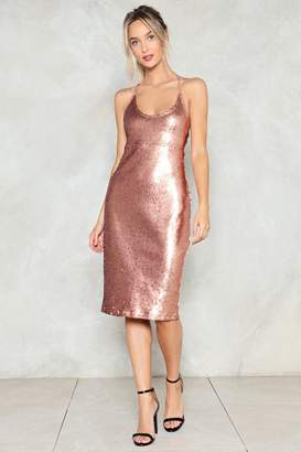 Nasty Gal Sequin Good Times Only Midi Dress