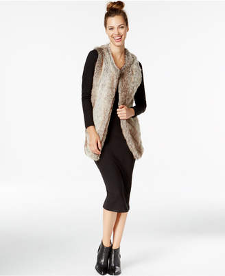 INC International Concepts Long Collarless Vest, Only at Macy's $99.50 thestylecure.com