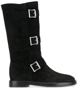 Twin-Set triple buckle boots