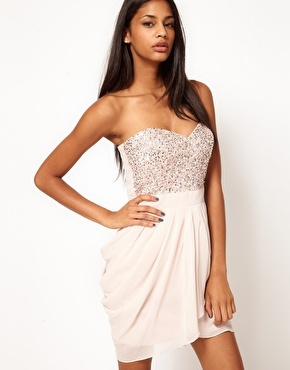 Lipsy VIP Sequin Bust Dress