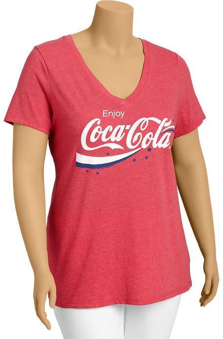 Old Navy Women's Plus Coca-Cola® V-Neck Tees