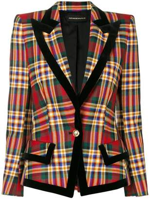 Alexandre Vauthier checked button blazer