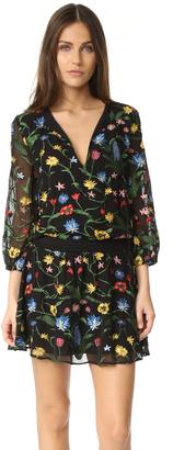 alice + olivia Jolene Embroidered Smocked Waist Dress $495 thestylecure.com