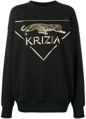 Krizia logo print sweatshirt