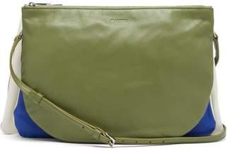 Jil Sander Colour Blocked Leather Cross Body Bag - Womens - Green
