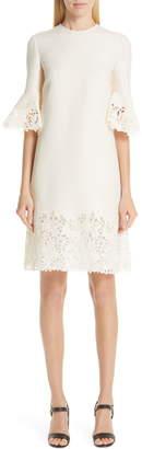 Valentino Lace Trim Wool & Silk Dress