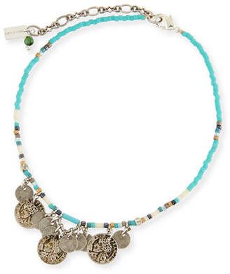 Chan Luu African Turquoise Seed Bead Anklet