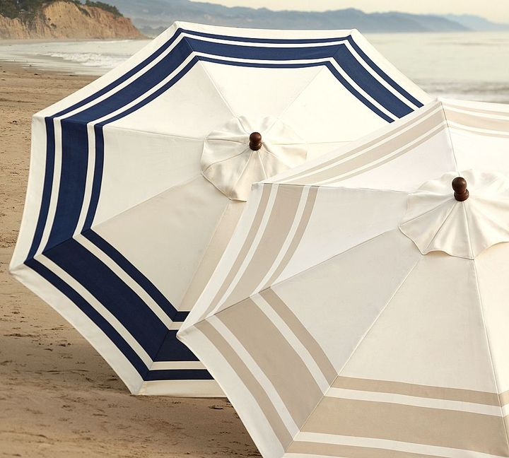 Round Market Umbrella - Hampshire Stripe
