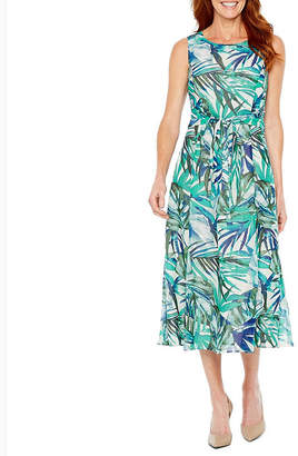 Evan Picone BLACK LABEL BY EVAN-PICONE Black Label by Evan-Picone Sleeveless Floral Sheath Dress