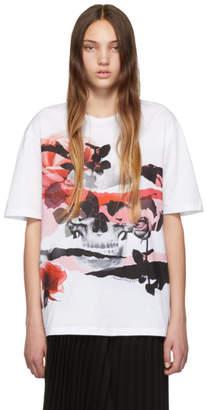 Alexander McQueen White Floral Skull T-Shirt