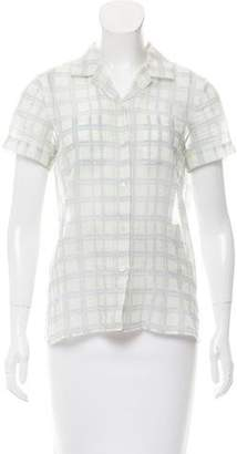 Jason Wu Printed Button-Up Top