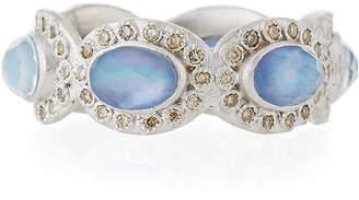 Armenta New World Oval Triplet & Diamond Ring, Size 6.5