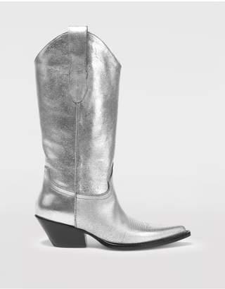 Maison Margiela High Silver Cowboy Boots