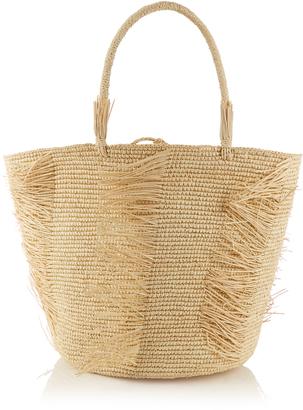 SENSI STUDIO Frayed woven-straw tote $215 thestylecure.com