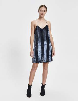 Farrow Riley Velvet Stripe Dress