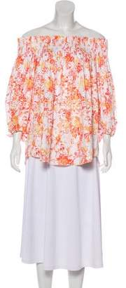 Caroline Constas Printed Off-The-Shoulder Blouse
