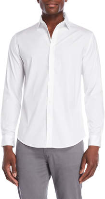 DKNY Solid Poplin Tech Shirt