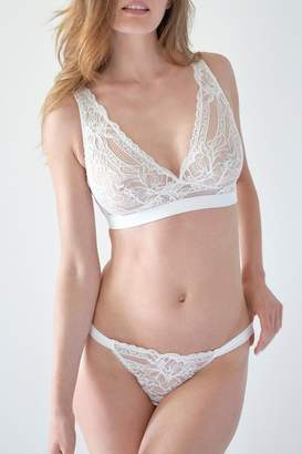 Mimi Holliday Silk Trimmed Thong