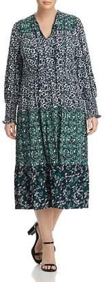 MICHAEL Michael Kors Tiered Paisley Print Midi Dress