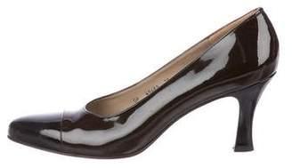 Salvatore Ferragamo Patent Leather Pointed-Toe Pumps