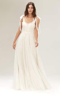 Savannah Miller Minnie Fit And Flare Tulle Gown With Sequins And Layered Tulle
