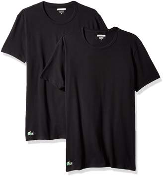 Lacoste Men's 2-Pack Colours Cotton Stretch Crew T-Shirt
