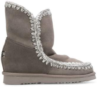 Mou stitch detail boots