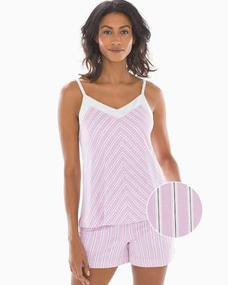 Cool Nights Colorblock Sleep Cami Delicate Stripe Orchid