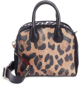 Christian Louboutin Marie Jane Small Leather & Suede Satchel