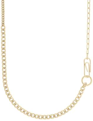 French Connenction Mixed Chain Long Necklace