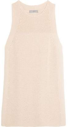 Vince Waffle-Knit Cotton Top