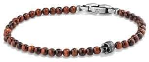 David Yurman Davidyurman Spiritual Beads Skull Bracelet With Red Tigers Eye