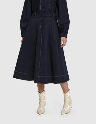 Yune Ho Alexa Cotton Twill Skirt