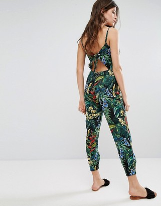 Oasis Tropical Printed Jumpsuit $58 thestylecure.com