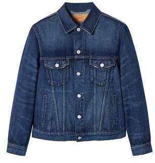 Mango Man MANGO MAN Dark wash vintage denim jacket