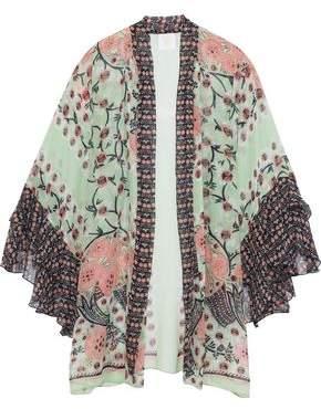Anna Sui Rubaiyat Floral-Print Silk-Chiffon Kimono