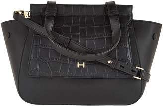 ... Halston H By H by Crossbody Satchel with Croco Embossed Flap 0a7aa8077f59a