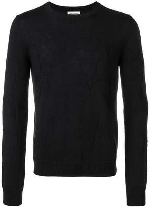 Saint Laurent jacquard star knit jumper