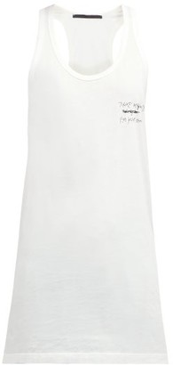 Haider Ackermann Tekst Print Cotton Tank Top - Womens - Ivory Multi